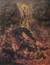 """Копия картины """"Сатана созывает свои легионы"""" художника """"Блейк Уильям"""""""