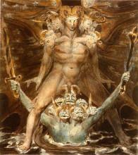 """Копия картины """"Большой красный дракон и чудовище из моря"""" художника """"Блейк Уильям"""""""