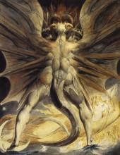"""Копия картины """"красный дракон и женщина, одетая в солнце"""" художника """"блейк уильям"""""""