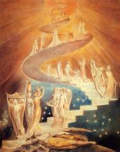 "Картина ""лестница иакова"" художника ""блейк уильям"""