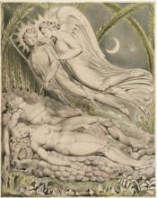 """Картина """"Иллюстрации к поэме Джона Мильтона """"Потерянный рай"""""""" художника """"Блейк Уильям"""""""