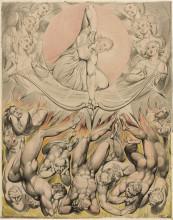 """Копия картины """"Низвержение восставших ангелов"""" художника """"Блейк Уильям"""""""