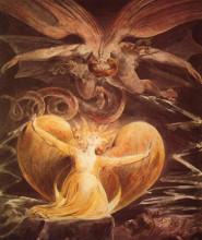 """Картина """"Большой красный дракон и женщина, одетая в солнце"""" художника """"Блейк Уильям"""""""