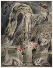 """Копия картины """"храм аполлона: гимн мильтона из поэмы """"на утро рождества христова"""""""" художника """"блейк уильям"""""""