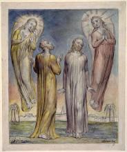 """Копия картины """"андрей, симеон, петр в поисках христа"""" художника """"блейк уильям"""""""