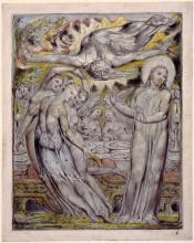 """Репродукция картины """"христос, отвергающий пиршество сатаны"""" художника """"блейк уильям"""""""