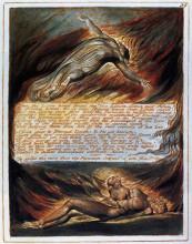 """Картина """"сошествие христа"""" художника """"блейк уильям"""""""