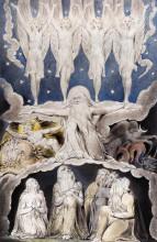 """Репродукция картины """"когда запели звезды. иллюстрация к книге иова"""" художника """"блейк уильям"""""""